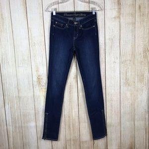 GAP Premium Super Skinny Stretch Ankle Zip Jeans